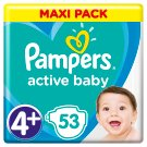 Pampers Active Baby Size 4+, 53 Nappies, 10-15kg