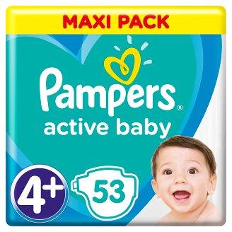 Pampers Active Baby, 4+-os Méret, 53 db Pelenka, 10-15 kg