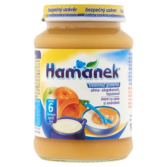 Hamánek Apple-Apricot with Sour Cream Dessert for Babies 6+ Months 190 g