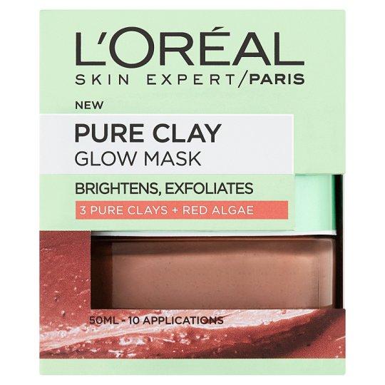 L'Oréal Paris Skin Expert Pure Clay bőrfelszín-finomító maszk 50 ml