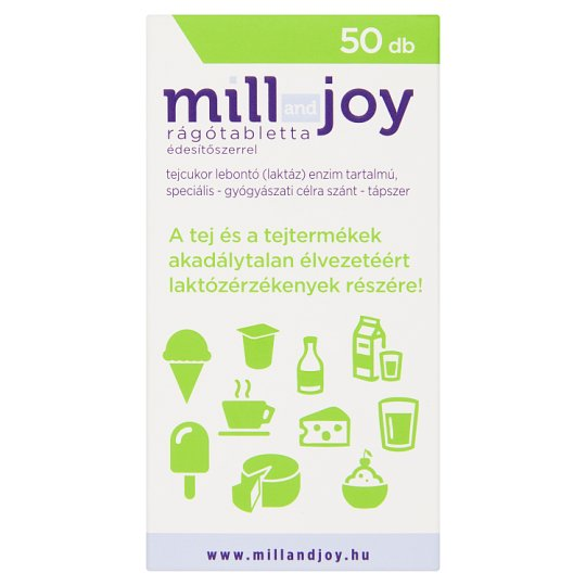 Mill and Joy rágótabletta édesítőszerrel 50 db