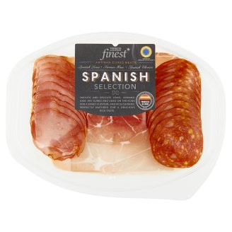 Tesco Finest Serrano Ham, Chorizo and Lomo Mix 120 g