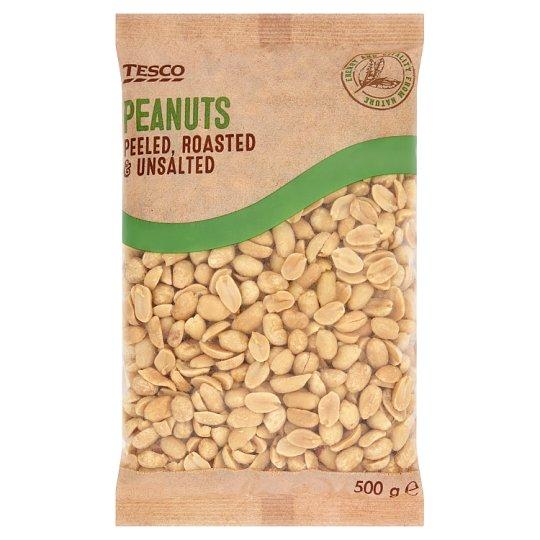 Tesco Peeled, Roasted & Unsalted Peanuts 500 g