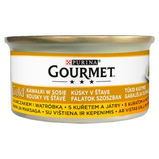 Gourmet Gold Bites in Sauce Wet Cat Food with Chicken and Liver 85 g