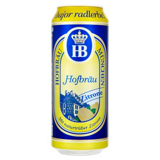 HB Hofbräu München Zitrone 2% 0,5 l