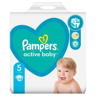 Pampers Active Baby, 5-as Méret, 64 db Pelenka, 11–16 kg