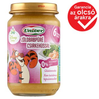 Univer Green Beans Puree with Chicken Food for Babies 6+ Months 163 g