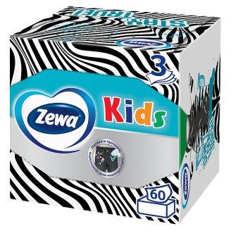 Zewa Kids dobozos illatmentes papír zsebkendő 3 rétegű 60 db