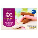 Tesco Dairy Free Chocolate Flavoured and Strawberry Ice Lollies 8 x 35 ml