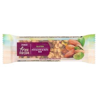 Tesco Free From földimogyorós, mandulás és pisztáciás müzliszelet étcsokoládéba mártva 35 g