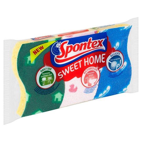 Spontex Sweet Home viszkóz szivacs 3 db
