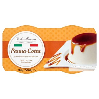 Dolce Mamma Panna Cotta with Caramel Sauce 2 x 100 g