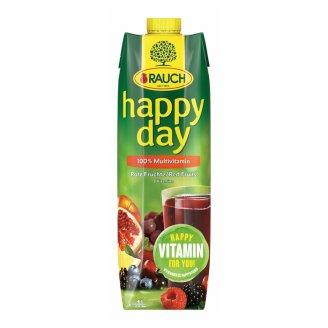 Rauch Happy Day 100% Multivitamin Mixed Fruit Juice with 8 Vitamins 1 l