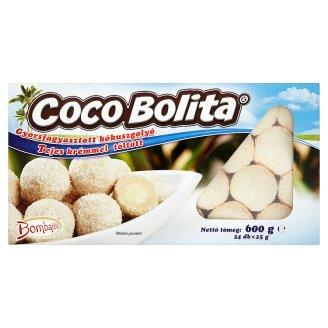 Bombajóó Coco Bolita gyorsfagyasztott tejes krémmel töltött kókuszgolyó 24 db 600 g