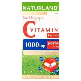 Naturland Premium 1000 mg C-vitamin étrend-kiegészítő kapszula paprikával 40 db 46,72 g