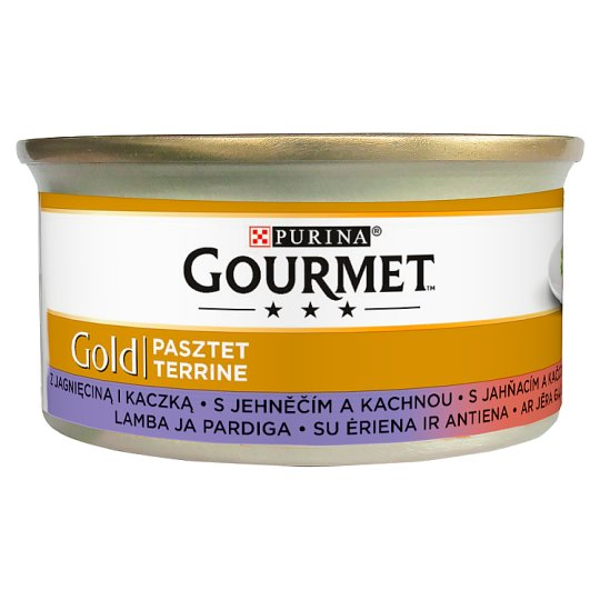 Gourmet Gold Complete Pet Food for Adult Cats with Lamb and Duck 85 g