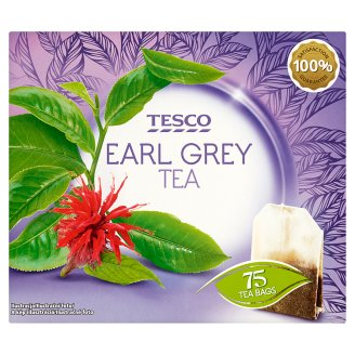Tesco Earl Grey Flavoured Black Tea 75 Tea Bags 131,25 g