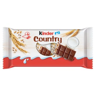 Kinder Country Milk Chocolate Filled with Milky Cream and Cereals 4 pcs 94 g