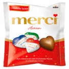 Merci Hearts Filled and Unfilled Chocolate Hearts 100 g