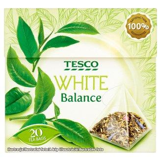 Tesco White Balance Rose Flower and Cornflower Flavoured Green and White Tea Blend 20 Tea Bags 34 g