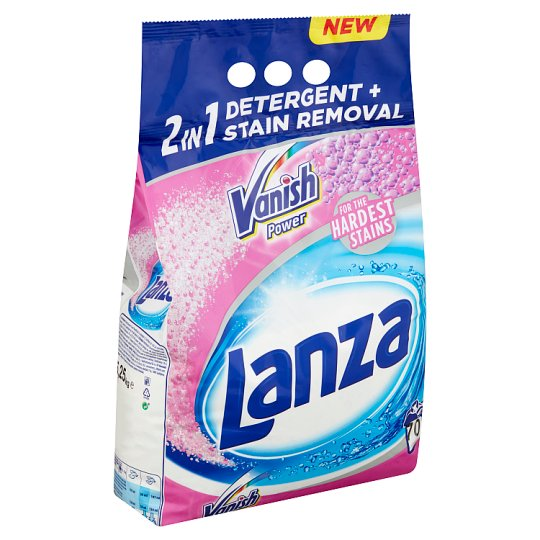 Lanza Vanish 2in1 Power Colors Detergent+Stain Removal Powder for Coloured Clothes 70 Washes 5,25 kg