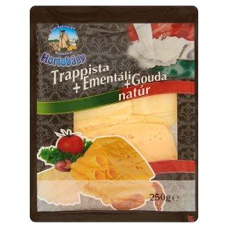 Hortobágy Sliced Unflavoured Trappist+Emmentaler+Gouda Cheese Mix 250 g