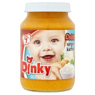 Dinky glutén- és tejszármazékmentes csirkehús sárgarépával-karfiollal-rizzsel 7 hónapos kortól 190 g