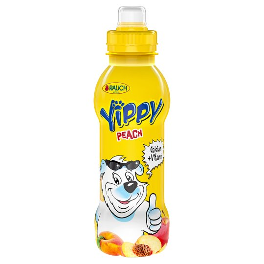 Rauch Yippy Peach Drink with 5 Vitamins and Calcium 330 ml