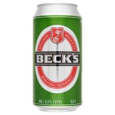 Beck's minőségi világos sör 5% 0,4 l