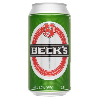 Beck's Quality Lager Beer 5% 0,4 l