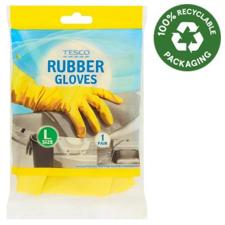 Tesco Rubber Gloves L Size 1 Pair