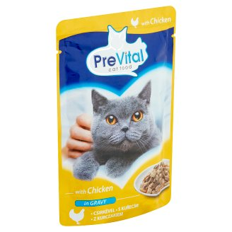 PreVital Complete Pet Food for Adult Cats with Chicken 100 g
