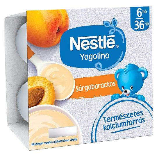 Nestlé Yogolino Milk Based Apricot Flavoured Baby Dessert 6+ Months 4 x 100 g