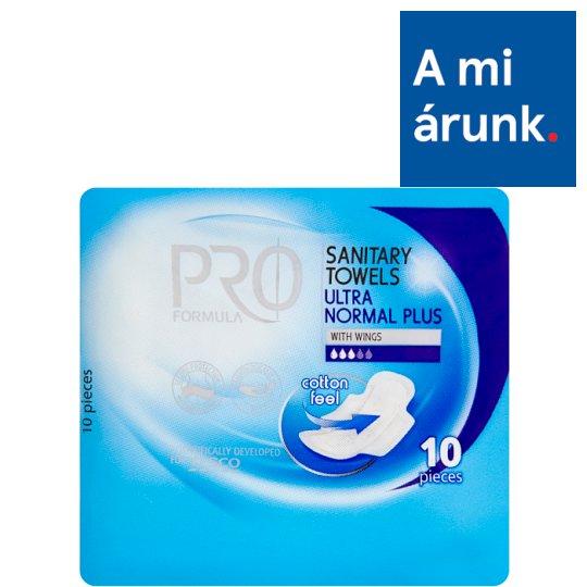 Tesco Pro Formula Ultra Normal Plus Sanitary Towel with Wings 10 pcs