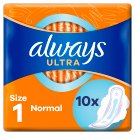 Always Ultra Normal (Size 1) Sanitary Towels Wings 10 Pads