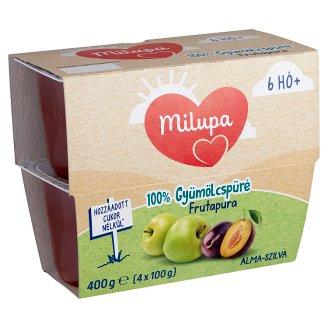 Milupa Frutapura Apple-Plum Fruit Puree 6+ Months 4 pcs 400 g