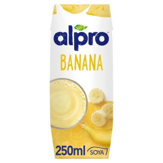 Alpro Banana Soya Drink with Added Calcium and Vitamins 250 ml