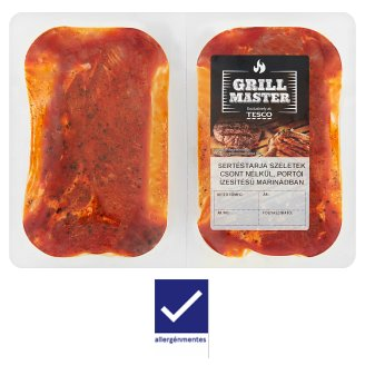 Tesco Grill Boneless Pork Spare Rib Slices in Port Flavored Marinade 550 g
