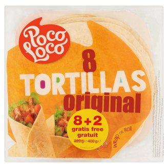Poco Loco tortilla búzalisztből 8 + 2 db 400 g
