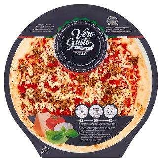 Vero Gusto mozzarella és cheddar sajtos, csirkehúsos, paprikás pizza 365 g