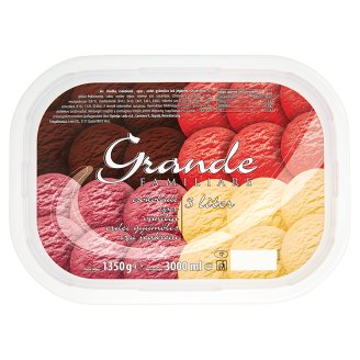 Ledo Grande Familiare Chocolate Strawberry Vanilla Forest Fruit Ice Cream 3 l
