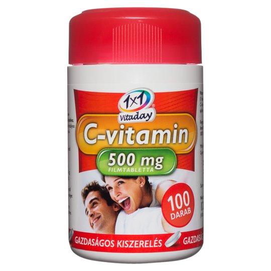 1x1 Vitaday C-vitamin 500 mg étrend-kiegészítő filmtabletta 100 db 120 g