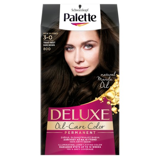 Schwarzkopf Palette Deluxe Intense Cream Hair Colorant 800 Dark Brown