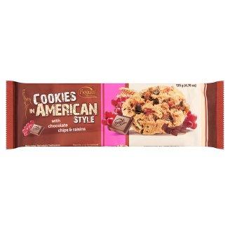 Cookies in American Style ropogós keksz mazsolával és csokoládéval 135 g