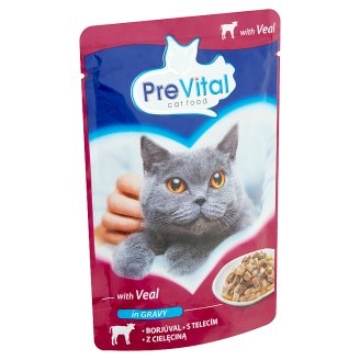 PreVital Complete Pet Food for Adult Cats with Veal 100 g
