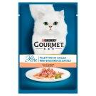 Gourmet Perle teljes értékű állateledel felnőtt macskák számára lazaccal 85 g