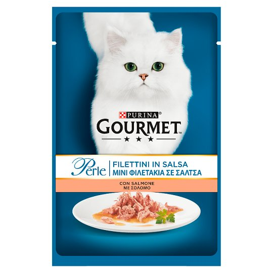 Gourmet Perle Complete Pet Food for Adult Cats with Salmon 85 g