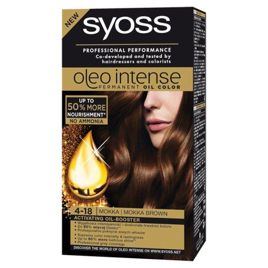 Syoss Oleo Intense Hair Colorant Mokka Brown 4-18