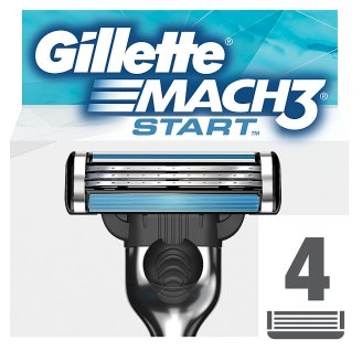 Gillette Mach3 Start Men's Razor Blades, 4 Refills