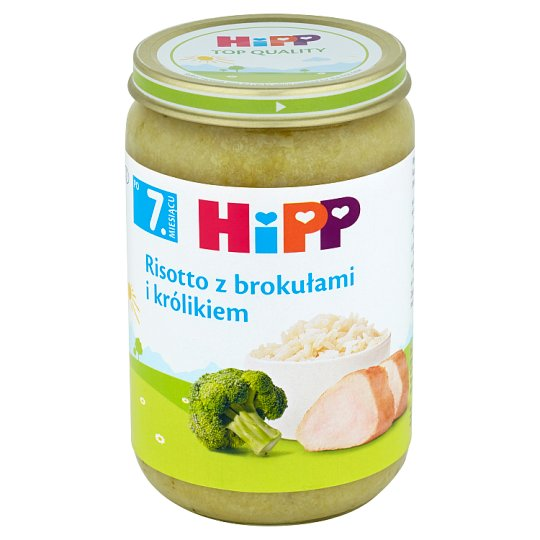 HiPP Risotto with Broccoli and Rabbit after 7. Months Onwards 220 g